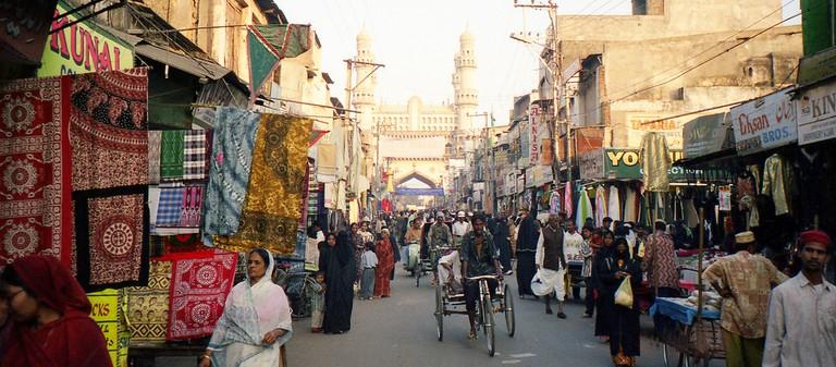 Bazaar at Hyderabad