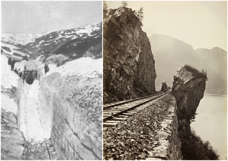Snow on the railway line in 1908
