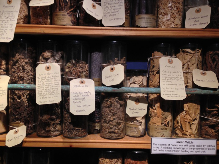 Healing Potions in the Boscastle Museum of Witchcraft and Magic