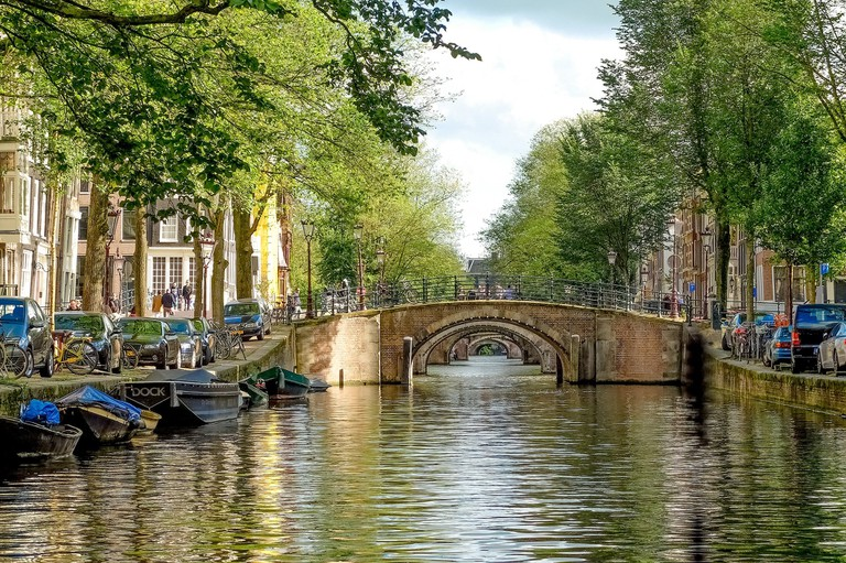 Bridges like this are considered steep in Amsterdam