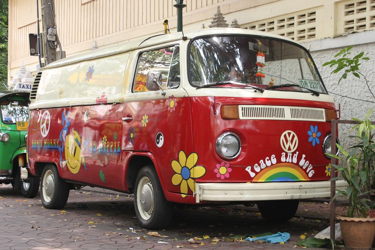 The VW van synonymous with hippy culture
