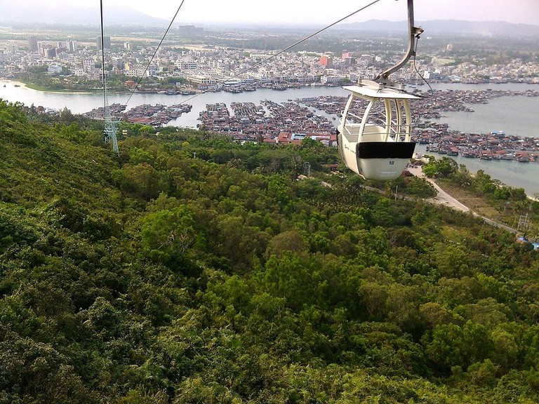 Take a ride on China's longest oversea cable car.