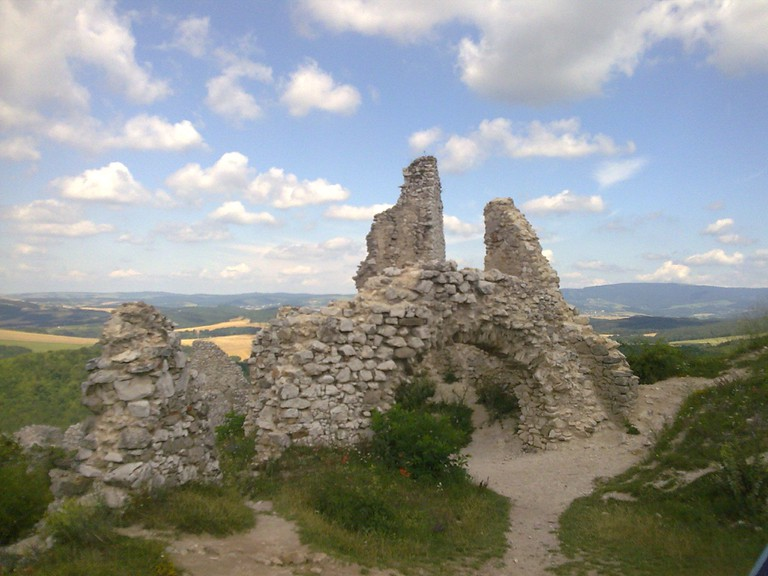 Some of the ruins at Čachtice Castle