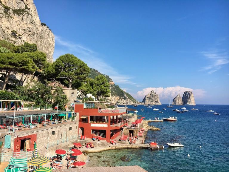 Capri Marina Piccola:Gillian Longworth McGuire