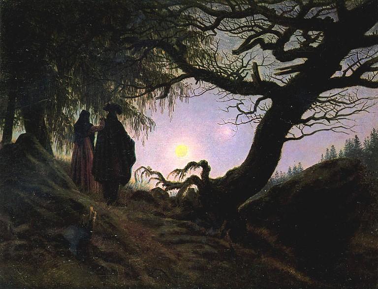 "Caspar David Friedrich, ""Man and Woman Contemplating the Moon,"" (1830-35)"