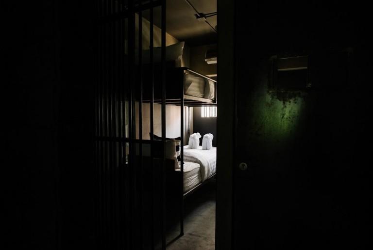 Bedroom behind bars