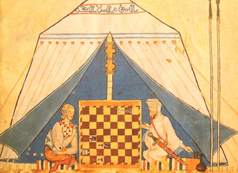 Moor and Spaniard playing chess