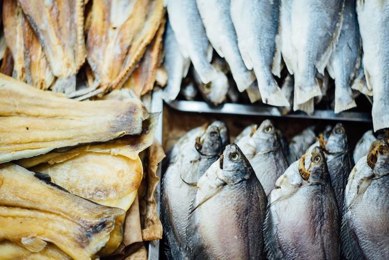 A fish market