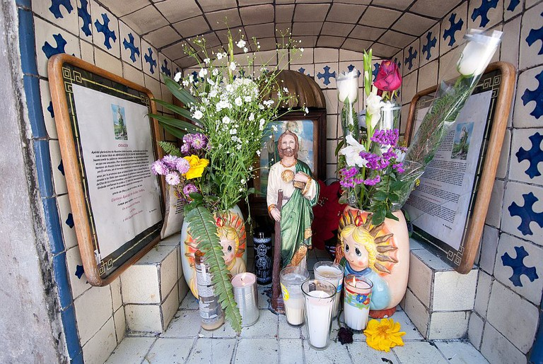 Mexico street altar