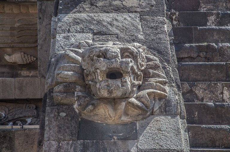 Ancient stonework in Teotihuacan