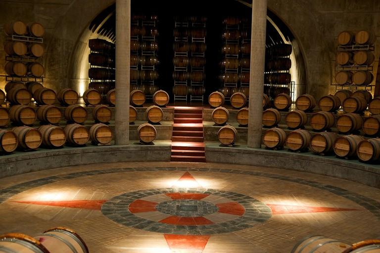 The distinctive circular cellar at the Salentein winery