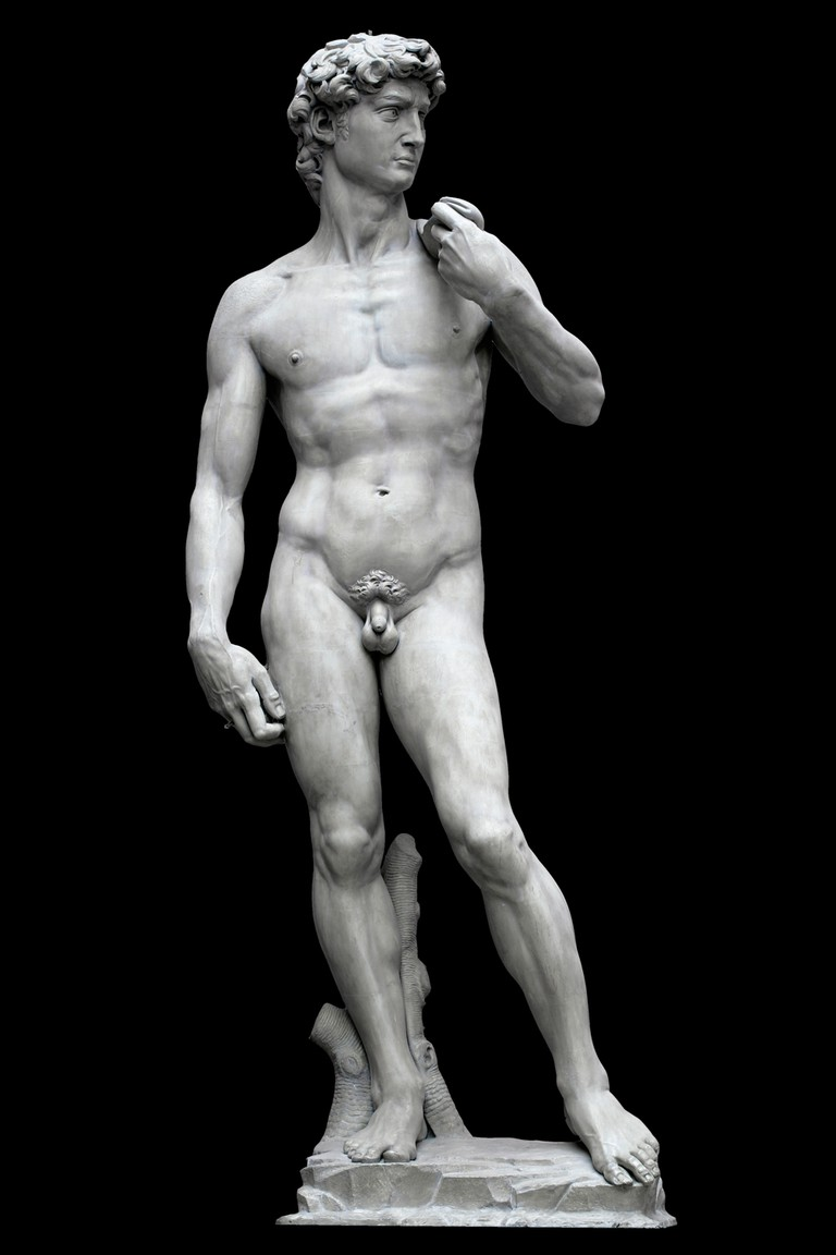 Plaster cast of 'David', by Michelangelo, 1501-4