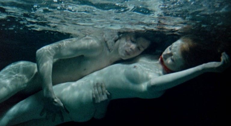 Truly in the deep end: Mike (John Moulder-Brown) possesses Susan (Jane Asher) | © BFI