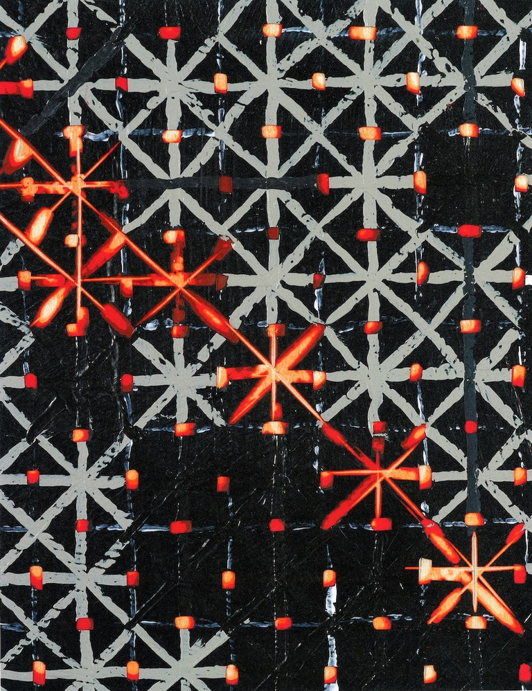 Ding Yi, Appearance of Crosses 2016–10, Detail, 1-1 Scale   © Ding Yi/Courtesy of the artist