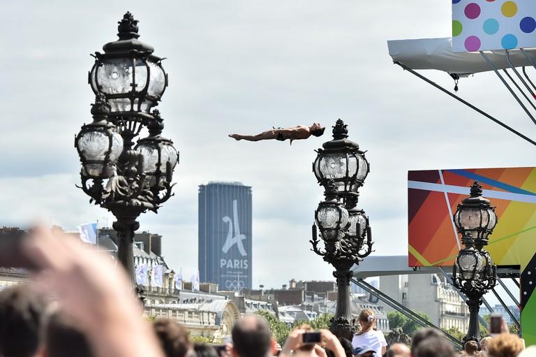 DIVING DURING THE OLYMPICS DAYS, IN PARIS, FRANCE, ON JUNE 24, 2017 │© ALAIN GADOFFRE / KMSP / PARIS 2024