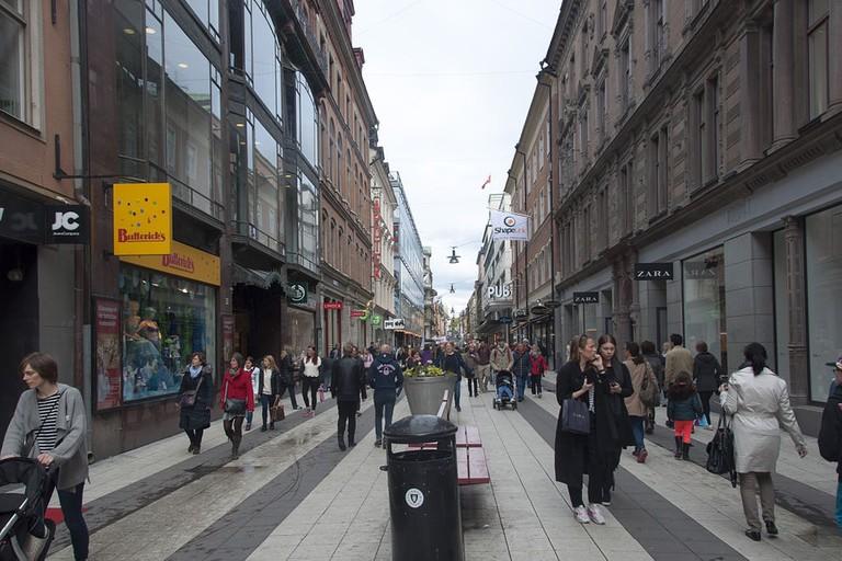 Drottninggatan is Sweden's busiest shopping street