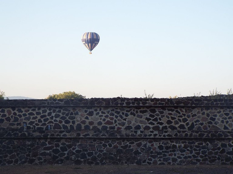 Early morning hot air balloon rides over Teotihuacan