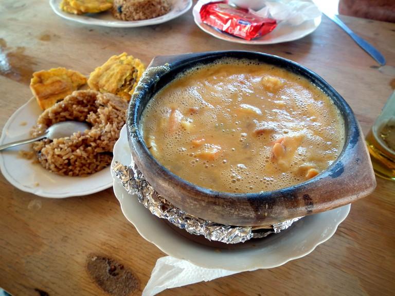 A delicious cazuela de mariscos in La Guajira