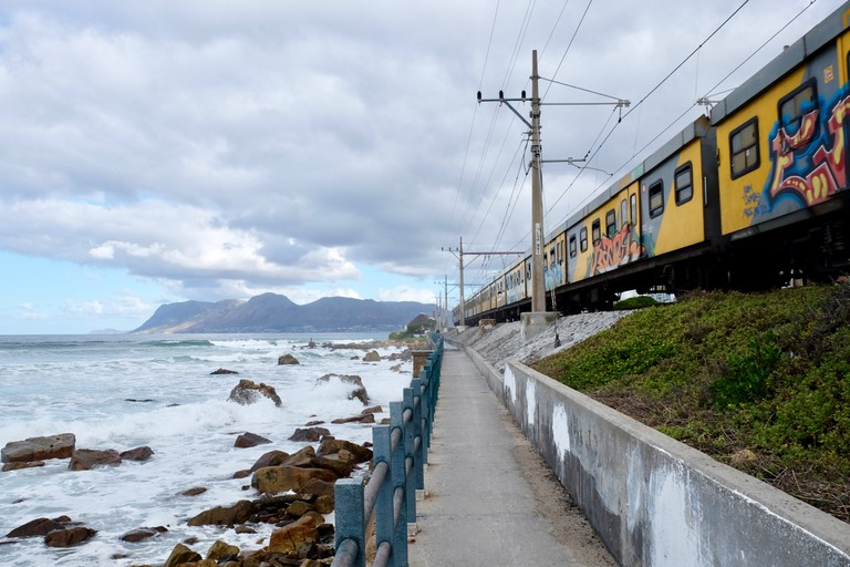The Metrorail train from Cape Town to Simon's Town