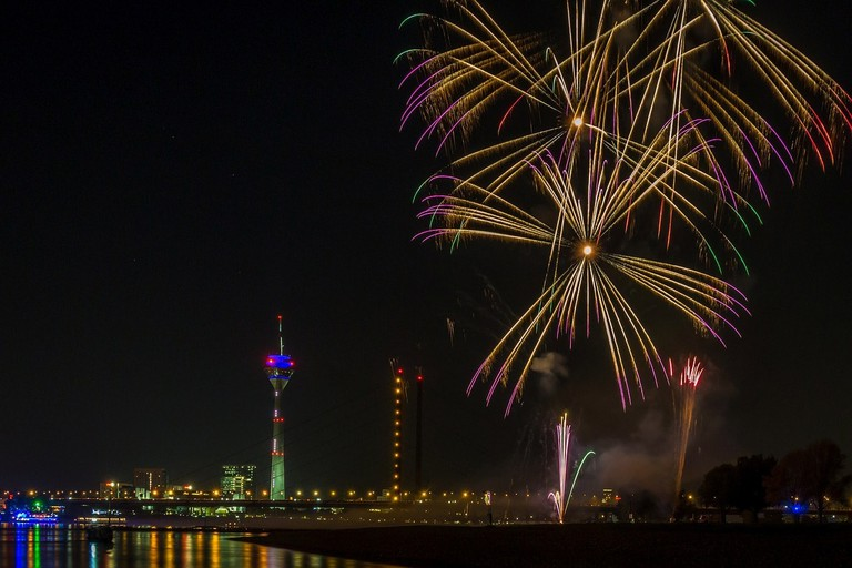 Fireworks on the Rhine