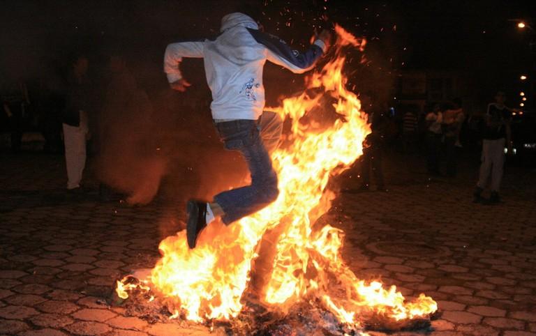 Burning the old year, Ecuador