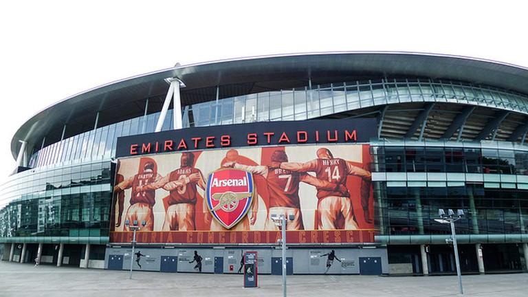 Exterior of Arsenal's Emirates Stadium