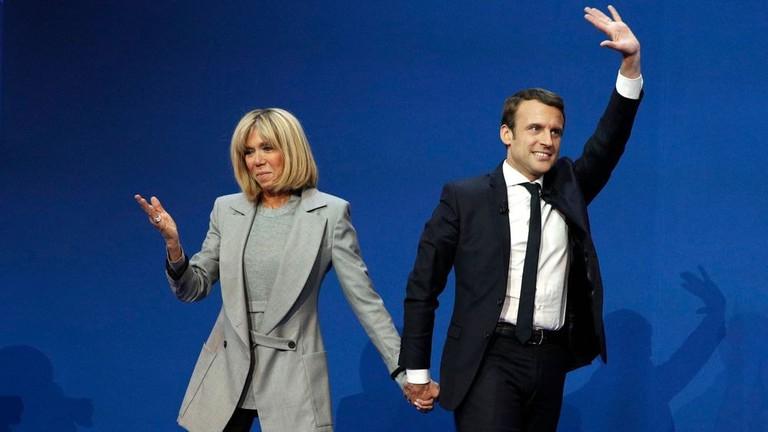 Emmanuel and Brigitte Macron at the Premier Tour │© thierryleclercq / Flickr