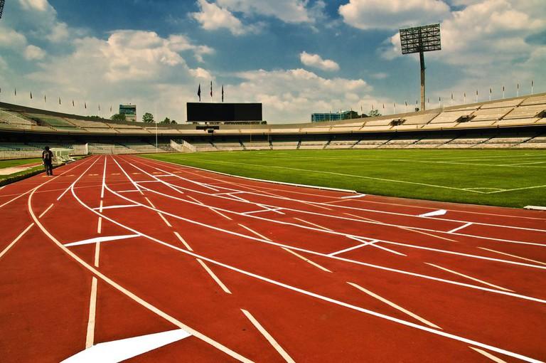 Olympic stadium on the UNAM campus