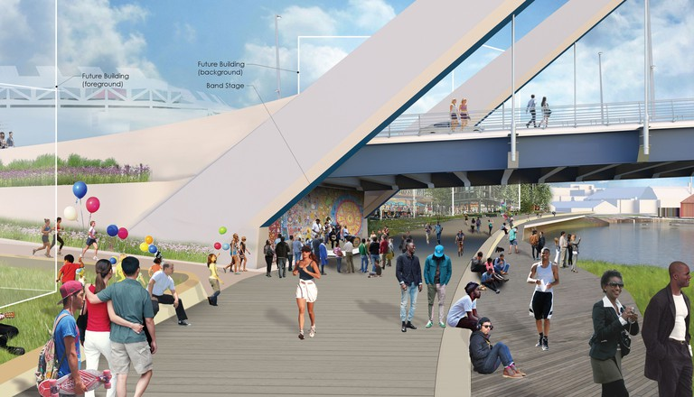 New Frederick Douglass Memorial Bridge design