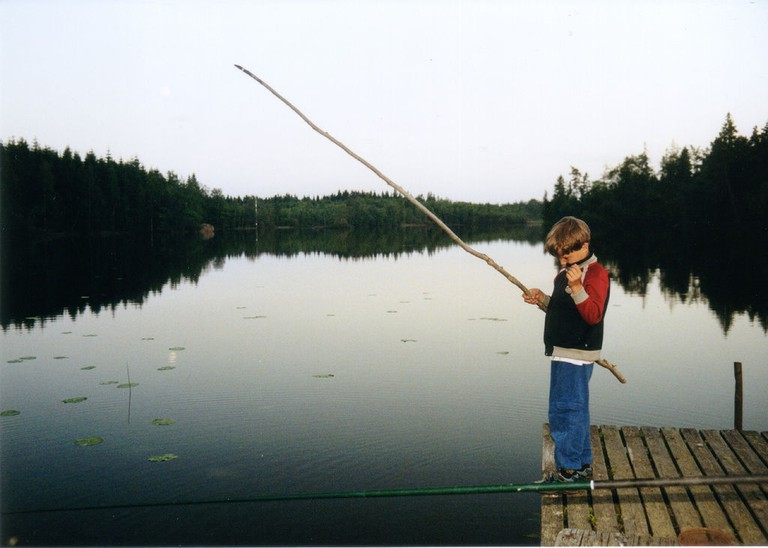 Everyone fishes in Sweden