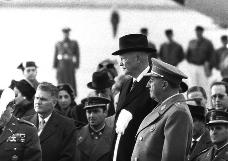 Franco and Eisenhower in Madrid in 1959