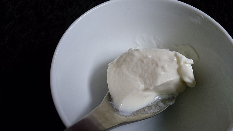 Fresh Greek yoghurt