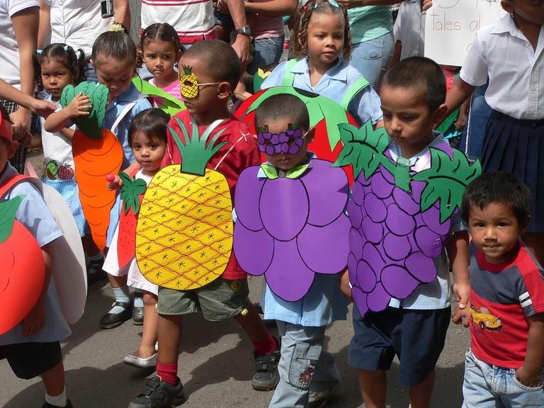 Everyone's celebrating fruit