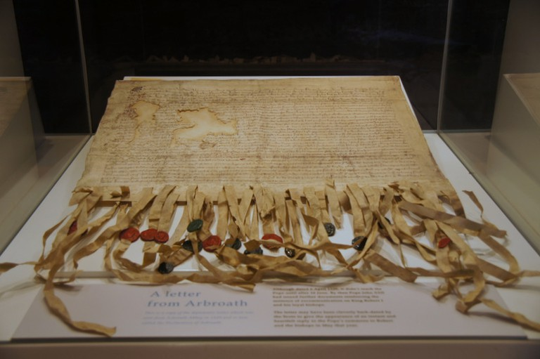 Copy of the Declaration of Arbroath in Arbroath Abbey