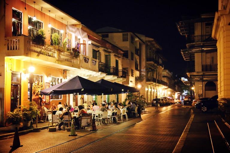 Casco Viejo by night, Panama City