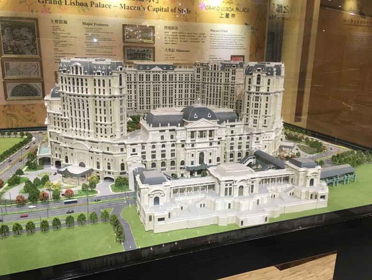 A scale model of Grand Lisboa Palace set to open in Macau in 2018.