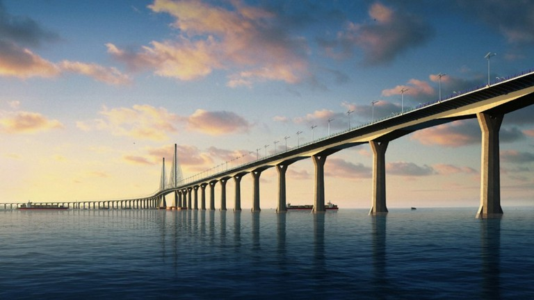 The 'Hong Kong-Zhuhai-Macau Bridge' will be the world's longest sea bridge when it opens at the end of 2017. The bridge will link Hengqin to neighbouring Hong Kong and Macau