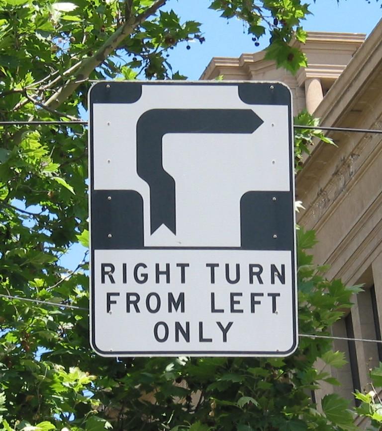 Hook Turn Sign Melbourne