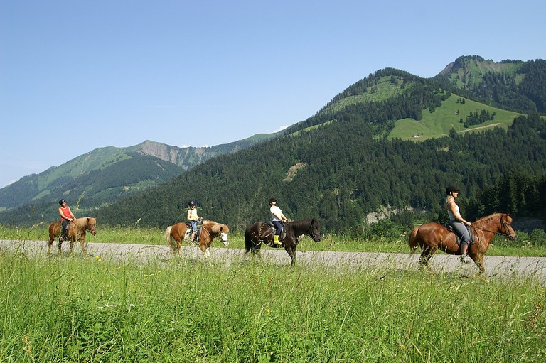 horse riding in the mountains | ©böhringer friedrich / Wikimedia Commons