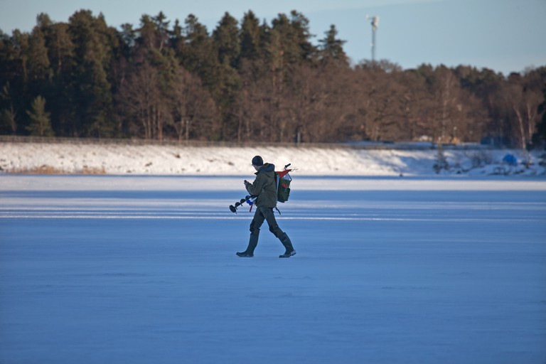 Sweden is perfect for ice fishing