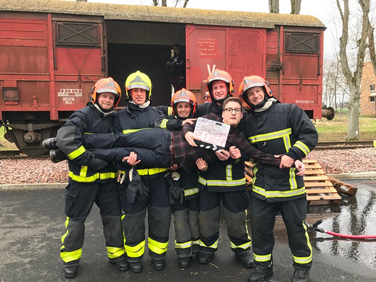 On location with French firemen for What The Fuck France