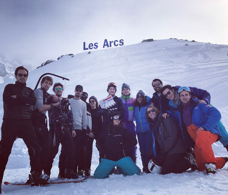 On location in Les Arcs for What The Fuck France