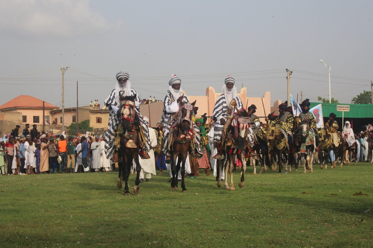 Horsemen participating in the Durbar