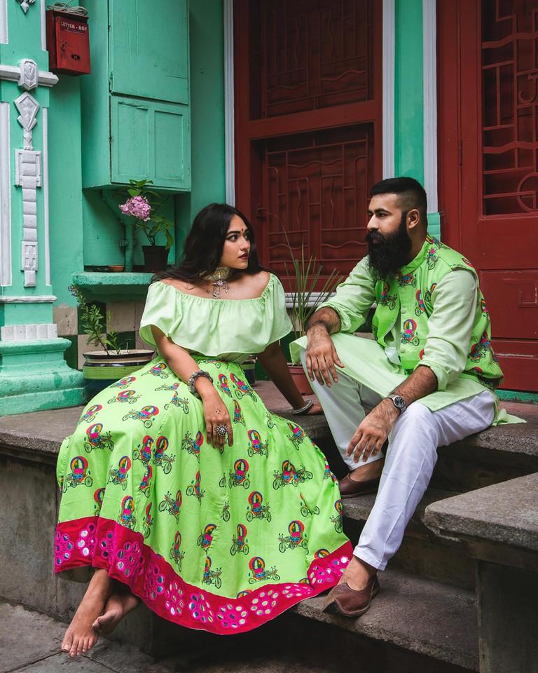 The Khadi Cult makes kitschy, contemporary ensembles using khadi