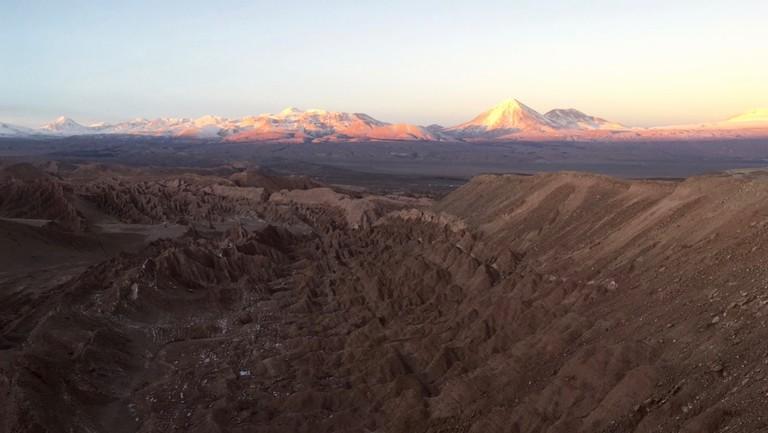 Sunset over the Atacama Desert