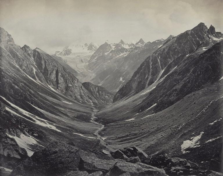 Samuel Bourne, Hama Pass View, Lahaul Valley, Himalayas, 1866