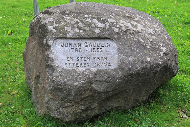 Johan Gadolin memorial stone on Resarö