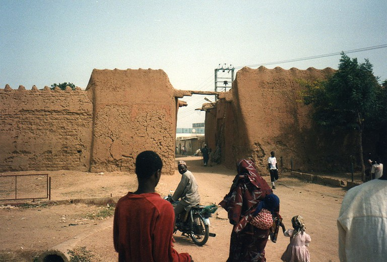 A section of the Kano mud city walls