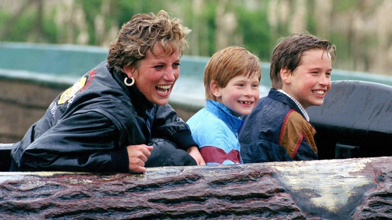 Princess Diana, Prince Harry, and Prince William in <em>Diana, Our Mother: Her Life and Legacy</em> | © HBO