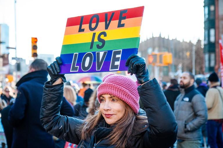 LGBT Solidarity Rally at the Stonewall Inn